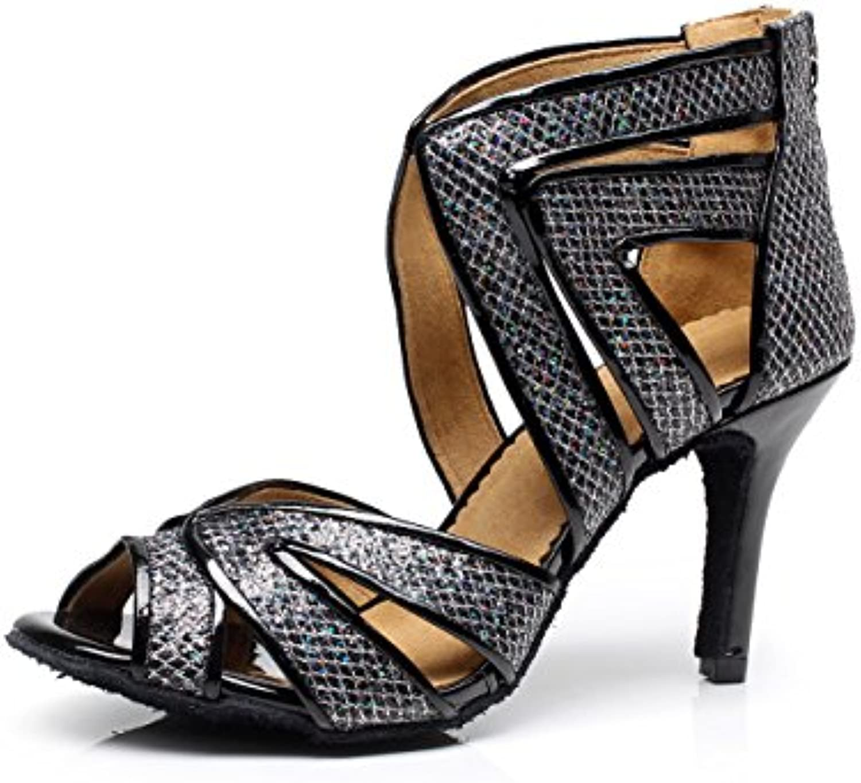 jshoe donne cristalli Scarpe Sparking Satin Latin Salsa Scarpe cristalli da ballo/tango/ChaCha/Samba/Modern/Jazz Scarpe Sandali... Parent 2d6c7c