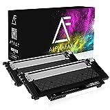 2 Toner für Samsung Xpress C430W/TEG C480W/TEG Farblaserdrucker - CLT-K404S/ELS - je 1500 Seiten, Schwarz/Black