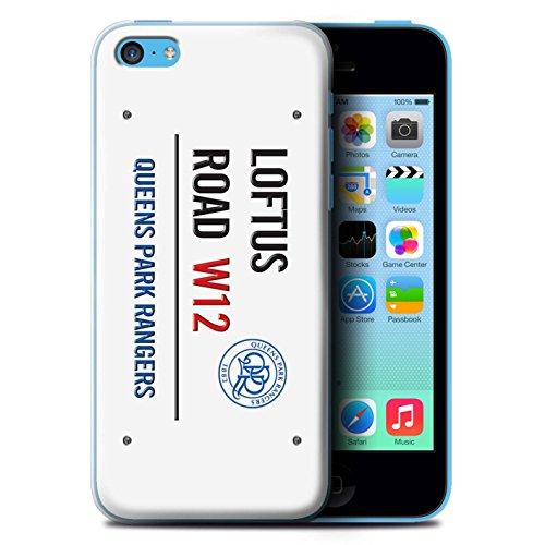 Offiziell Queens Park Rangers FC Hülle / Case für Apple iPhone 5C / Pack 8pcs Muster / QPR Loftus Road Zeichen Kollektion Weiß/Blau