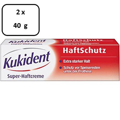 2 x Kukident Super-Haftcreme HaftSchutz - 40 g