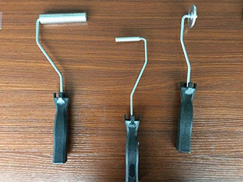 vetroresina 3pcs Laminating roller Bubble rullo per resina manico nero laminazione Paddle rullo per composito
