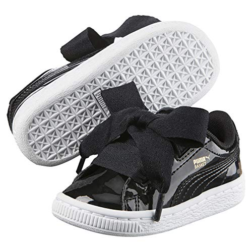 PUMA Basket Heart Patent Mädchen Sneaker Puma Black-Puma Black 3_Infant - Infant Black Patent Schuhe