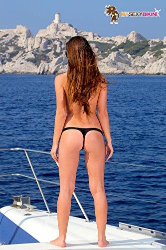my sexy bikini Damen Bikini-Set noir 3 pièces string + tanga + sg