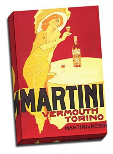 Groß Retro-Druck Leinwand Kunst Alkohol Advertisments Martini Vermú Torino Martini und rossi-dudovich 1950 30 x 20 Inches (76cm x 51cm) -
