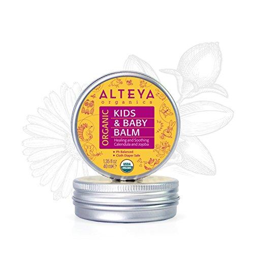 Alteya Bio Babybalsam 40ml - USDA Organic-zertifiziert PREISGEKRÖNT Rein Bio Natürlich - Babyhautpflege auf der Basis ätherischer Rosenöle (Bulgarische Rose) - heilt und schützt empfindliche und irritierte Haut
