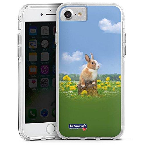 Apple iPhone 6s Plus Bumper Hülle Bumper Case Glitzer Hülle Haeschen Bunny Hase Bumper Case transparent