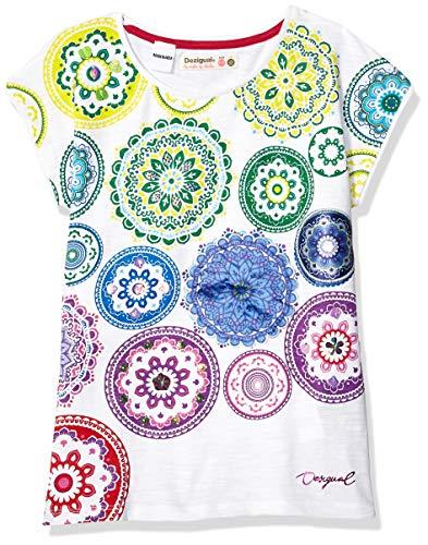 Desigual Mädchen Girl Knit Short Sleeve (TS_Carolina) T-Shirt, Weiß (White 1000), 140 (Herstellergröße: 9/10) -