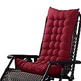 Cuscino Chaise Lounge Imbottito Esterno Patio Sedia Cuscino Materasso Pad Morbido Accogliente per Poltrona a Dondolo Sedia reclinabile - Bordeaux