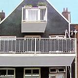 Multistore 2002 Sichtschutz 445x76cm für Balkon Zaun Geländer, Polyester in Anthrazit, Blickschutz Windschutz Sonnenschutz Trennwand