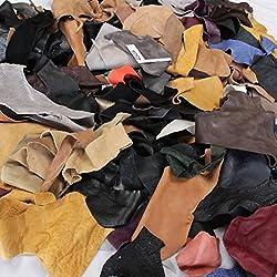 2kg Restos de cuero–konvolut piel–Piel Piel Rest Caja–Manualidades piel