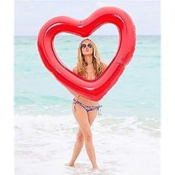 UClever Hinchable Flotador Colchonetas Piscina Gigante (Corazón Rojo)