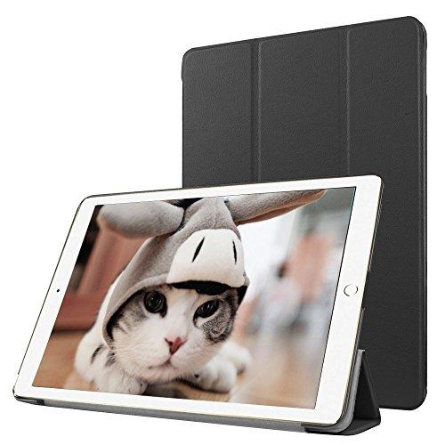 Preisvergleich Produktbild Apple iPad Pro 12.9 Fallabdeckung , TechCode iPad Pro Design Schein-Glitter-Leder-intelligente Kasten-Abdeckung mit Standplatz -Abdeckung PU-Leder-Kasten mit Standplatz -Abdeckung Executive-Multi-Funktions-Leder-Standby-Gehäuse mit eingebauter Magnet für Sleep & Awake Funktion für Apple iPad Pro 12.9 (iPad Pro 12.9,Schwarz)