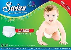 Swiss Baby Pant Diapers - L (52 Pcs)