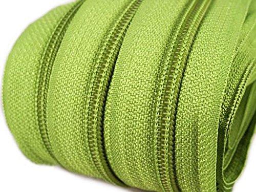 maDDma ® 6m Endlos-Reißverschluss 5mm mit 15 Zippern und Endstücke 234 Grün