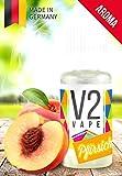 V2 Vape Pfirsich AROMA/KONZENTRAT hochdosiertes Premium Lebensmittel-Aroma zum selber mischen von E-Liquid/Liquid-Base für E-Zigarette und E-Shisha 10ml 0mg nikotinfrei