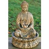 Brunnen Zimmerbrunnen Gartendeko Buddha 50cm