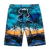 Niseng Homme Maillot De Bain Board Shorts Cocotiers Impression Séchage Rapide Surf Short Plage Short