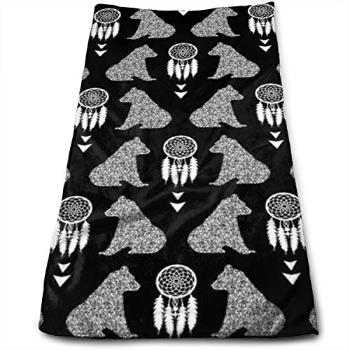 Kaixin J Bear Cubs with Dream Catchers BW_13484 Microfiber Bath Towels,Soft, Super Absorbent and Fast Drying, Antibacterial, Use for Sports, Travel, Fitness, Yoga 12 * 27.5 Inch