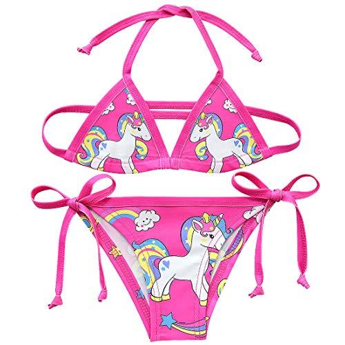 Traje baño Dos Piezas Colorido diseño Unicornio