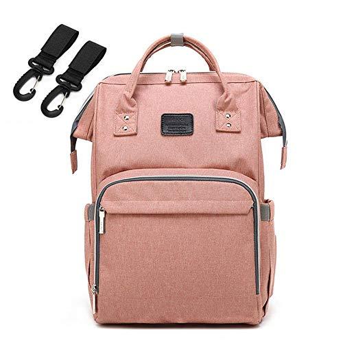 Preisvergleich Produktbild Wickeltasche Rucksack, multifunktional, wasserdicht, Windelrucksack Organizer, große Kapazität, Wickeltasche für Babytrage, strapazierfähige Baby-Wickeltasche mit Kinderwagengurten