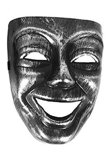 Halloweenia - Karneval, Motto-Party Voll-Gesichtsmake Lachen, Venezianischer Stil, (Und Mantel Degen Mädchen Kostüme Piraten)