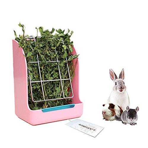 Cremagliera per mangimi per fieno di porcellini d'India, dispenser per erba medica senza coniglio, mangime per fieno per piccoli animali, coniglio, porcellino d'india, galesaur, furetto