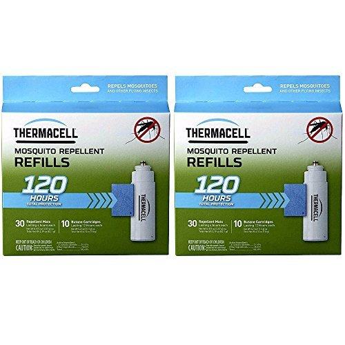 Thermacell Handgerät Mega Refill Pads (lila): 60Matten und 20Butan-2er Pack (Pack Butan Fackel)