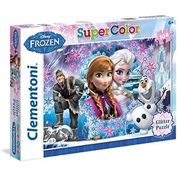 Clementoni - 27248.8 - Puzzle á paillettes - La Reine des Neiges - 104 Pièces