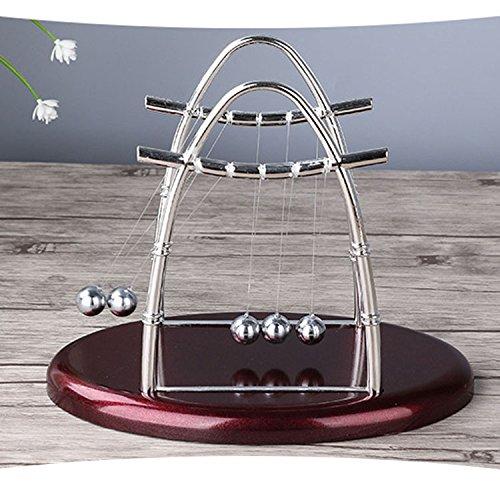 Enshey Newton Pendel Newton's Cradle Blance Ball Pendulum Wiege Ball Office Desk Toys Entspannende Lernspielzeug kreatives Geschenk (Oval) - Lehrer Geschenke Schreibtisch