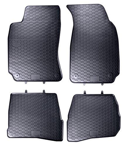 AME Auto-Gummimatten in schwarz und Wabendesign, Geruch-vermindert und passgenau mit verbauten Befestigungen 817/4C