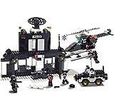 Polizeistation dagogische Spielzeug Kinder Selbsthemmende Figuren Bausteine Kompatibel mit Lego Spielzeug