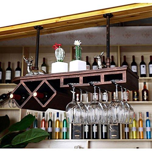 CXZS-wine rack Holz Weinregal Weinständer Weinglashalter Weinkelch Weinkühler Einstellbare...