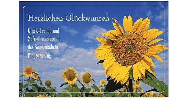 Glückwunschkarte Geburtstagskarte Grußkarte Geschenk Einladungskarte  Einladung Sonnenblume Maxikarte Postkarte Karte Mit Umschlag Weiss 216 X  139 Cm Text: ...