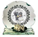 Geschenk zum 40. Hochzeitstag Personalisiertes Kristall Schnitt Glas Gedenktafel mit Namen und Datum der Jahrestag Custom Made zur Bestellung Geschenk