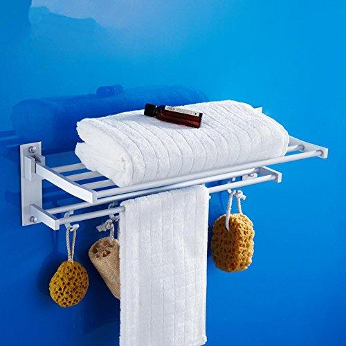 alluminio spazio di attività asciugamano pieghevole bagno