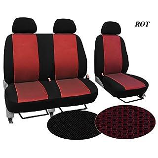 Autositzbezüge, Schonbezüge , Super Qualität, STOFFART VIP, Set BUS 1+2 - passend für PEUGEOT BOXER. In diesem Angebot ROT (Muster im Foto). In 3 Farben bei anderen Angeboten erhältlich. Komplett besteht aus: Fahrersitz + 2er Beifahrersitzbank + 3 Kopfstützen.