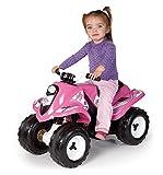 Smoby - 33054 - Quad Electrique Rallye -  Véhicule Eletronique pour Enfant - 2 Roues Motrices - 2  Heures de Batterie 6 V - Rose