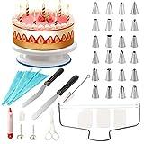 Grandma Shark Supporto per giradischi per torta Supporto per giradischi per decorazione di torte - Set di accessori per la preparazione di torte