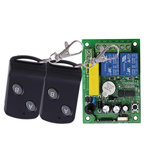 Homyl 2 Stück Fernbedienung Schalter mit Empfängermodul 220-V-2-Kanal-Fernschalter - Schmetterling 2 Knopf
