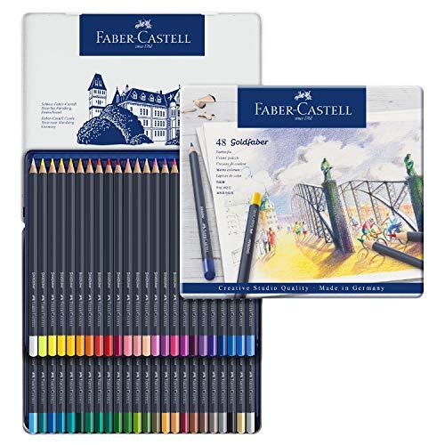 Faber-Castell 114648 Aquarellfarbstift 48ST Sortiert