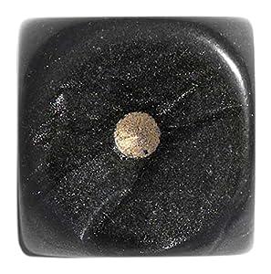 Philos 12mm Dados en Bolsa de plástico, Juego de, Pearl (Negro)