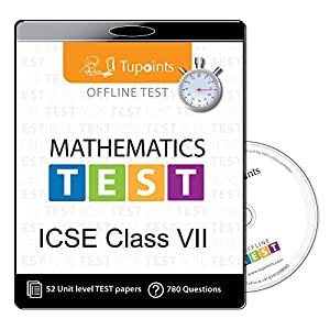 ICSE Class 7 Math Offline practice Test Mock Test (chapter wise -Topic wise TEST series ) CD