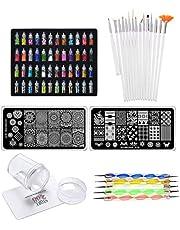 Store2508® Super Value Combo Kit of Nail Art Tools – 3d Nail Art, Nail Stamping Image Plates, Silicone Stamper, Nail Art Brush set, Nail Dotting Tool Set.