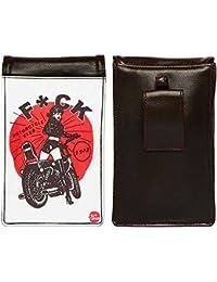 Nutcase Designer Travel Waist Mobile Pouch Bag For Men, Fanny Pack With Belt Loop & Neck Strap-High Quality PU... - B075N691HF