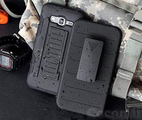Cocomii Robot Armor Galaxy Ace 4 Custodia Nuovo [Robusto] Fondina Clip da Cintura Cavalletto Antiurto Copertura [Militare Difensore] Tutto Il Corpo Case Paraurti for Samsung Galaxy Ace 4 (R.Black)