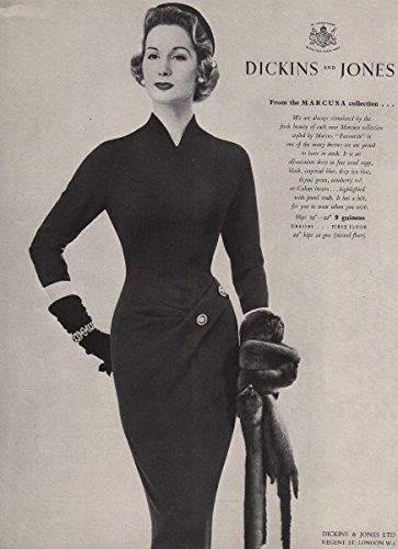 dickins-and-jones-marcusa-colletion-favourite-dress-fashion-advert-1955-old-antique-vintage-print-ar