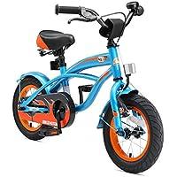 """BIKESTAR Bicicleta para niños ★ 12 pulgadas ★ Color Azul ★ Frenos de tiro lateral y freno de contrapedal ★ A partir de 3 años ★ 12"""" Cruiser Edition 2018"""