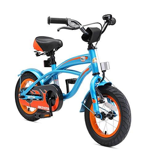 Bikestar Vélo Enfant pour Garcons et Filles DE 3-4 Ans ★ Bicyclette Enfant 12 Pouces Cruiser avec Freins ★ Bleu