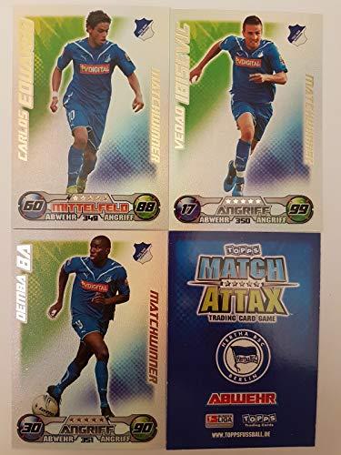 Match Attax Topps 2009 2010 - Trading Cards alle 3 Matchwinner: Hoffenheim - Eduardo, Ibisevic, Demba Ba (Topps-fußball-2010)