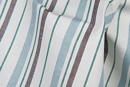 Weiß gestreift Leinen & Baumwolle-Mischgewebe Stoff Meterware–245GSM Textil–gestreift–gewebt in Nordeuropa (Kleid Plaid Leinen)